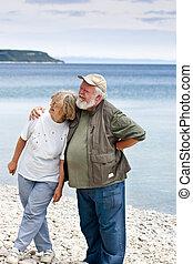 Two Seniors on the beach