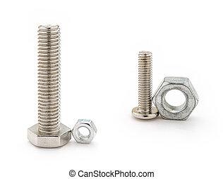 two sets mismatch bolt and nut