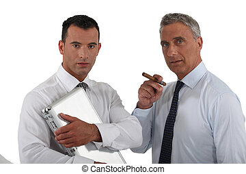 Two shady businessmen