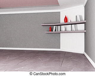 two shelves on the wall