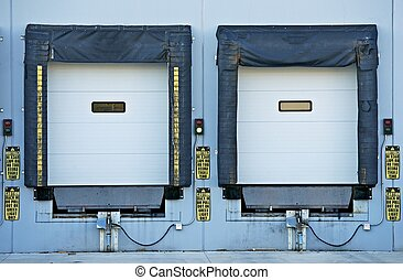 Two Shipping Gates for Trucks. Industrial Collection.