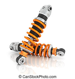 Two shock absorber car.