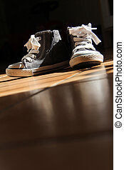 two shoes - two little nice shoes with rubber for the...