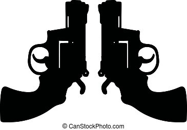 Two short revolvers