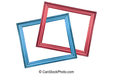 Two simple wooden picture frames