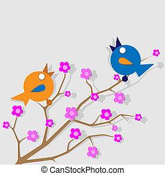 Two singing birds