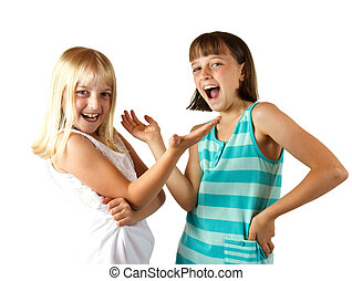 Two Sisters Laughing