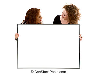 Two sisters with the big frame.