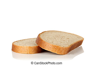 Two slices of bread.