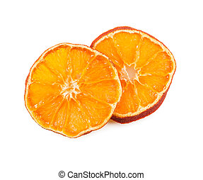 Two slices of dried orange