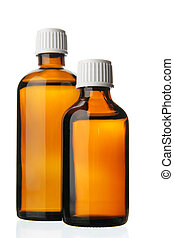 Two small bottles with drug