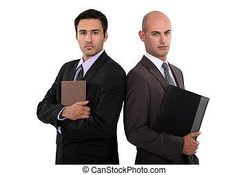 Two smart businessmen