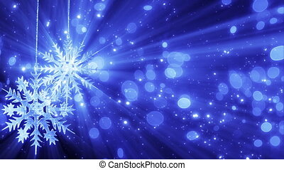 two snowflakes and lights loopable