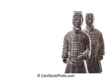 Two soldiers of Terracotta Army - Replicas of two terracotta...