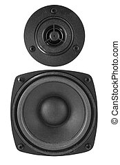 speakers on a white - Two speakers on a white background...