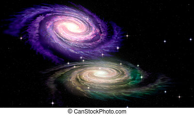 Two Spiral Galaxys