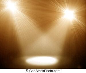 two spotlights