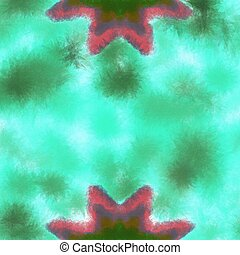Two starfish on a blue background