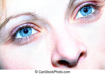 Two stars - blue eyes close-up