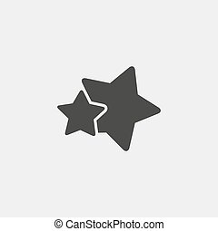Two stars icons in black color. Vector illustration eps10
