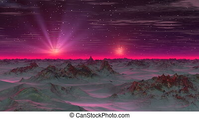 Two Stars in the Sky Alien Planet