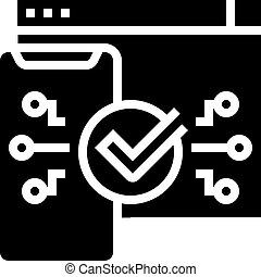 two step authentication glyph icon vector. two step authentication sign. isolated contour symbol black illustration