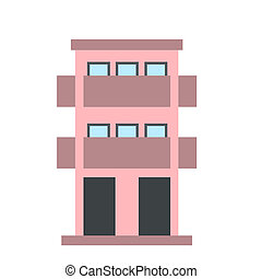 Two-storey house with balcony icon