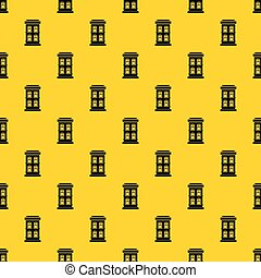 Two-storey house with large windows pattern vector
