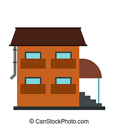 Two-storey house with porch icon