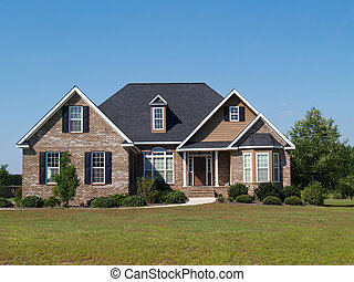 Two Story Brick Home - Small two story brick home with porch...