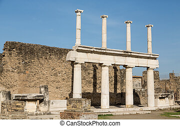 Two Story Columns in Pompeii