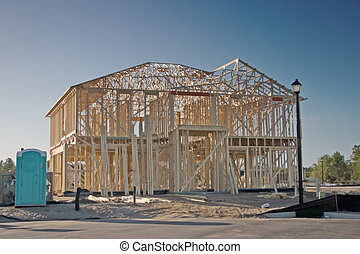 two story framing home - newly framed 2 story home with...