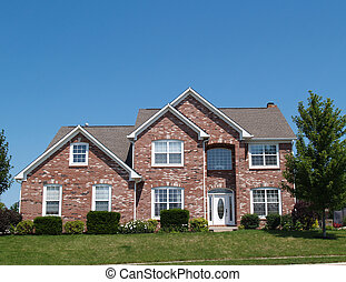 Two Story New Brick Residential Hom - Two story new brick...