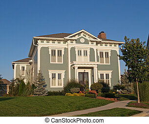 Two Story New Historical Styled Hom - A new home constructed...