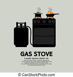 Two Stoves With Gas.