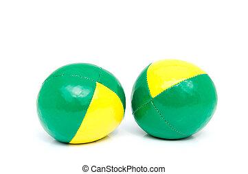 Two stress balls