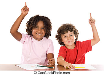 Two student children