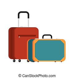 two suitcases for travel