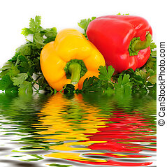 paprika - two sweet peppers (paprika), parsley and ...