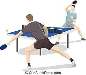 two., tênis tabela