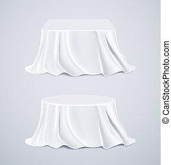 Two tables with white tablecloths, eps 10