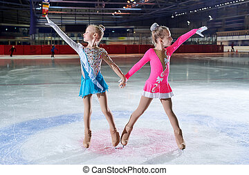 Two Talented Little Figure-Skaters