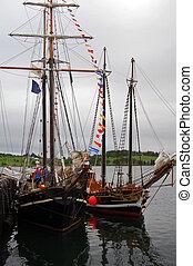 two tall ships - tallship festival in lunenburg