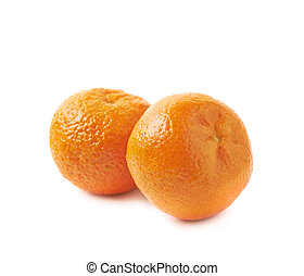 Two tangerines isolated