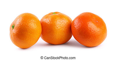 Two tangerines on a white background