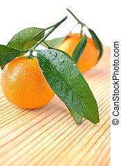 Two tangerines