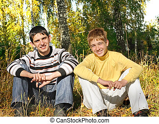 two teenagers in the park