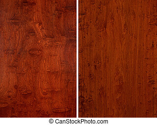 Two texture of wood.