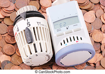 thermostats - Two thermostats on one-cent coins
