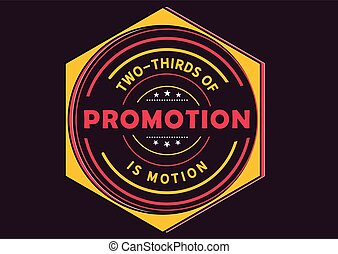 Two-thirds of promotion
